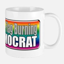 Gay Marriage Flag Burning Mug