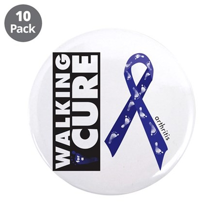 "Blue Ribbon for Arthritis 3.5"" Button (10 pack)"