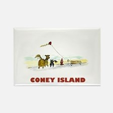 Coney Island Rectangle Magnet