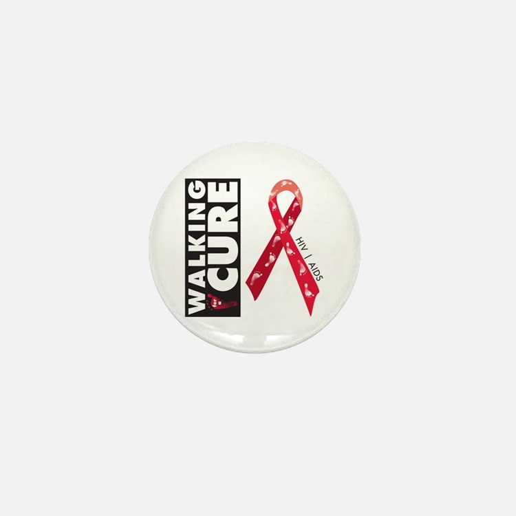 Red Ribbon for AIDS HIV Mini Button