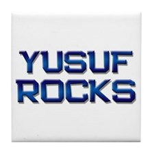 yusuf rocks Tile Coaster