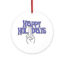 happy holidays middle finger Hanukkah ornament