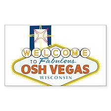 Osh Vegas Rectangle Decal