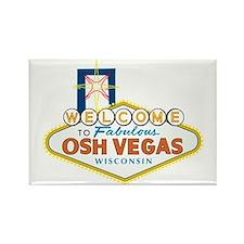 Osh Vegas Rectangle Magnet