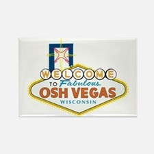 Osh Vegas Rectangle Magnet