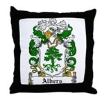 Albers Coat of Arms Throw Pillow