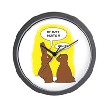 Cute Easter bunny Wall Clock