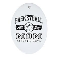 Basketball Mom Oval Ornament