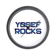 yosef rocks Wall Clock