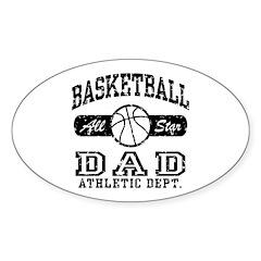 Basketball Dad Oval Sticker (10 pk)