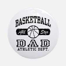 Basketball Dad Ornament (Round)