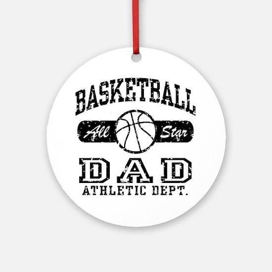 Basketball Dad Ornament (Round)