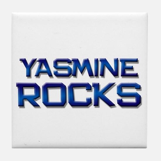 yasmine rocks Tile Coaster