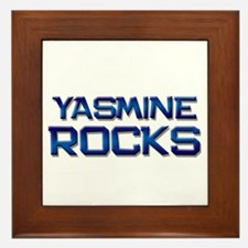 yasmine rocks Framed Tile