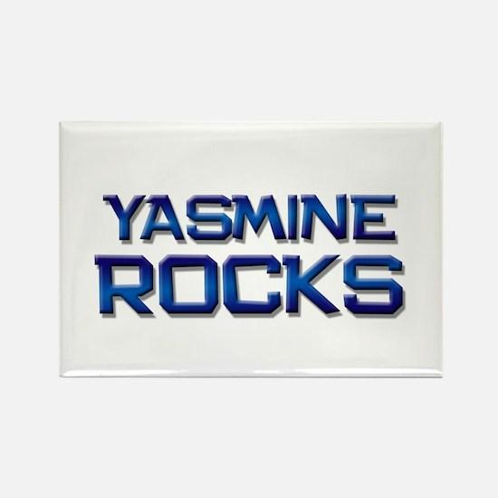 yasmine rocks Rectangle Magnet