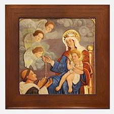 St Dominic Framed Tile