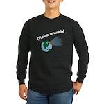 Make A Wish Asteroid Long Sleeve Dark T-Shirt