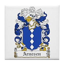 Arnesen Coat of Arms Tile Coaster