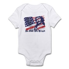 Cute Catholic and american Infant Bodysuit