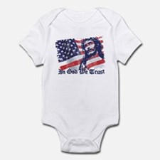 Cute Catholic conservative american Infant Bodysuit