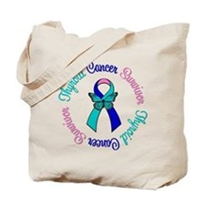 ThyroidCancerSurvivorButterfly Tote Bag