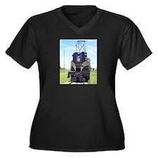 PRR GG1 4800 Women's Plus Size V-Neck Dark T-Shirt