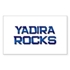 yadira rocks Rectangle Decal