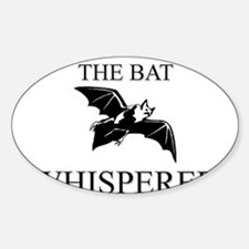 The Bat Whisperer Oval Decal