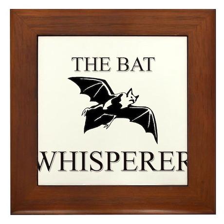 The Bat Whisperer Framed Tile