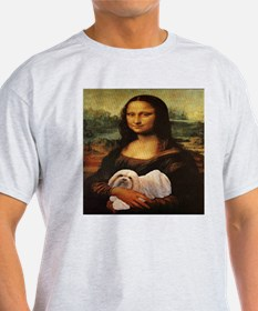 Mona Lisa Lhasa! Ash Grey T-Shirt