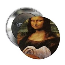 "Mona Lisa Lhasa! 2.25"" Button (100 pack)"