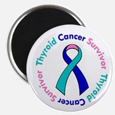 "Thyroid Cancer Survivor 2.25"" Magnet (10 pack)"