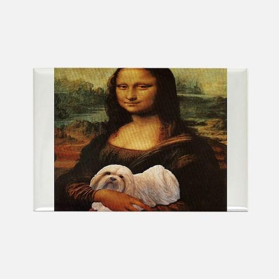 Mona Lisa Lhasa! Rectangle Magnet (100 pack)