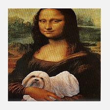 Mona Lisa Lhasa! Tile Coaster