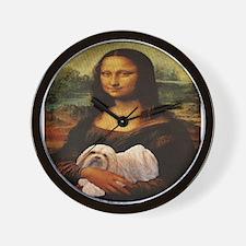 Mona Lisa Lhasa! Wall Clock
