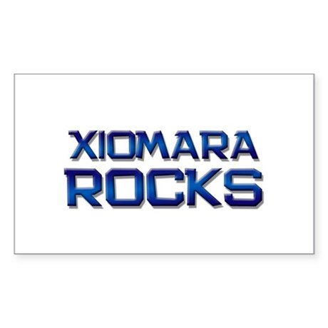 xiomara rocks Rectangle Sticker