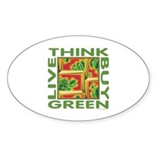 Live Green Cactus Decal