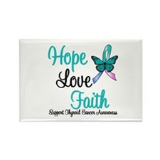 Thyroid Cancer Hope Faith Rectangle Magnet