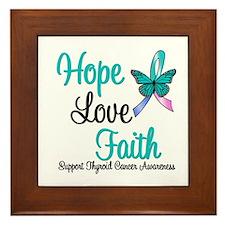Thyroid Cancer Hope Faith Framed Tile