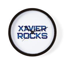 xavier rocks Wall Clock