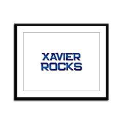 xavier rocks Framed Panel Print