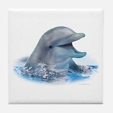 Happy Dolphin Tile Coaster