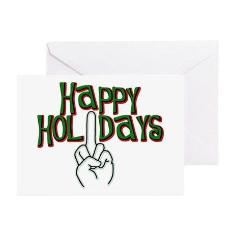 happy holidays middle finger salute Kwanzaa cards