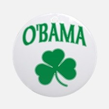 Irish Obama Ornament (Round)