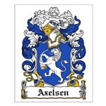 Axelsen Coat of Arms Small Poster
