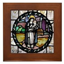 St Rose of Lima window Framed Tile