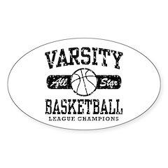 Varsity Basketball Oval Sticker