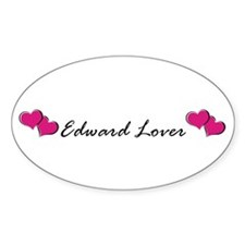 Edward lover Oval Decal