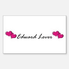 Edward lover Rectangle Decal