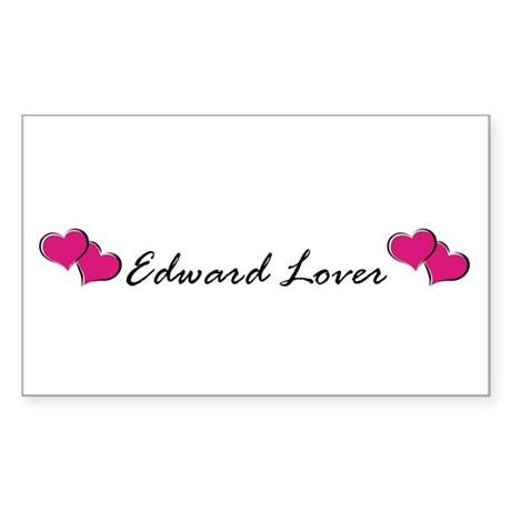 Edward lover Rectangle Sticker